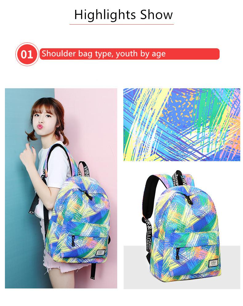 Fashion Women Waterproof Backpack School Bag Personality Printing Large  Capacity Girls Knapsack Back Packs Travelling Bags - us518 237b5db4b9a