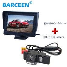 Стоянка для автомобилей монитор 4.3 «+ черный корпус автомобиля камера заднего вида для NISSAN QASHQAI X-TRAIL для Citroen C4/C5 для Peugeot 307 Хэтчбек