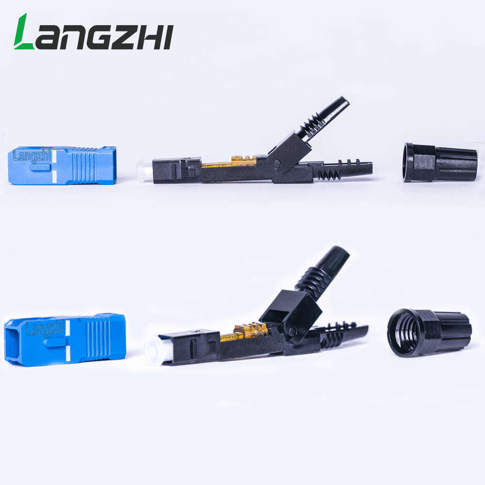 Image 3 - SC UPC Fiber Optic Fast Connector 100 SC FAST connector blue 