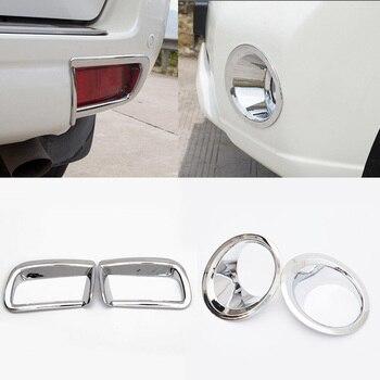 4 pièces/ensemble ABS Chrome avant arrière feu antibrouillard couvercle garniture décoration Protection accessoire adapté pour Toyota Prado FJ150 2014-2017