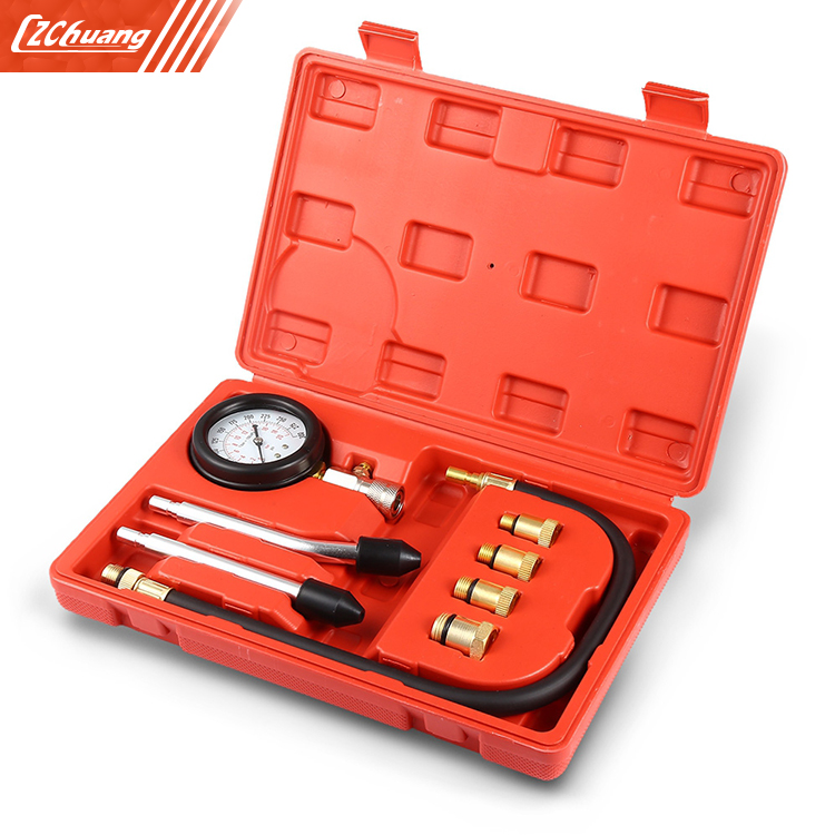Engine Cylinder Pressure Gauge Diagnostic Tool Compression Tester Set
