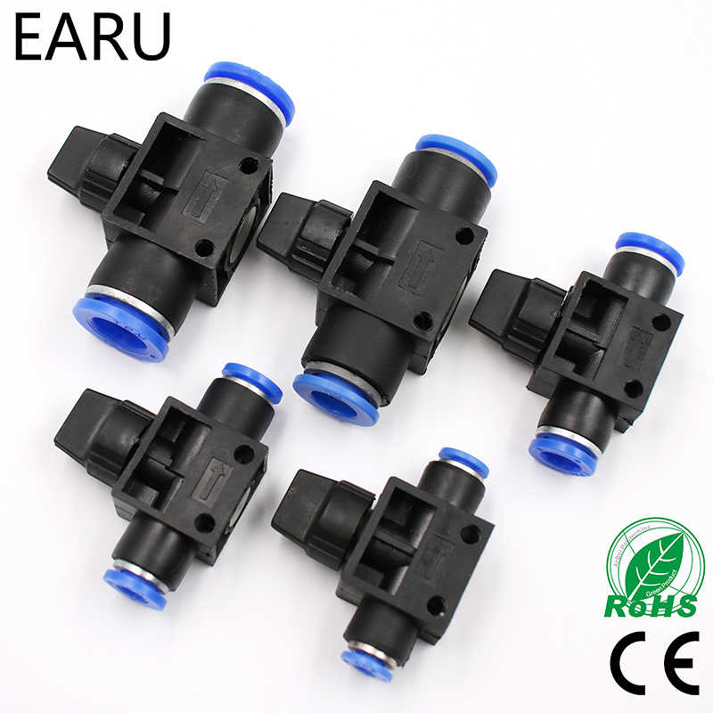 Improvement Pneumatic Air 2 Way Quick Fittings Push Connector Tube Hose Plastic 4mm 6mm 8mm 10mm 12mm Pneumatic Parts