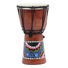4 Inch African Drum Percussion Kid Toy Classic Painted Wooden Style Hand For Children Toys