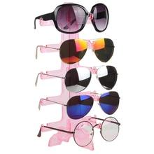 2016 New 1pcs 5 Tier Simple Convenient Plastic Glasses Eyeglasses Sunglasses Show Stand Holder Fashion Frame Display Rack