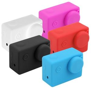 Image 3 - Silicone Case For SJCAM SJ4000 WIFI SJ5000 SJ7000 SJ9000 Soft Protective Cover For Eken H9 H9r GoPro Hero 3 Series Action Camera