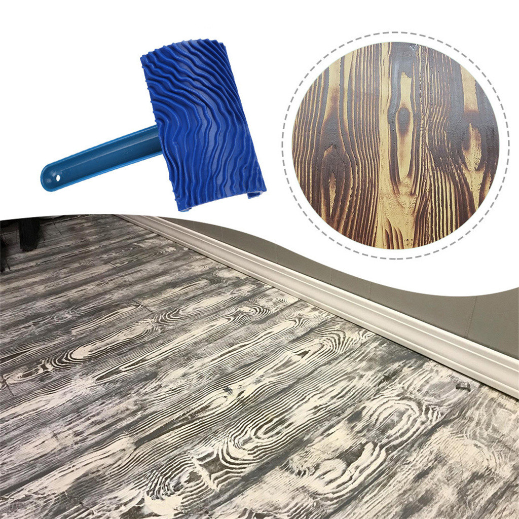 Best Selling 2019 Products Wood Grain Pattern Rubber DIY Graining Painting Tool For Wall Decoration Tools Herramientas Gadget