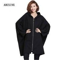 ARCSINX Oversized Jacket Women Casual Korean Women Jackets 4XL 5XL 6XL 7XL 8XL 10XL 9XL Autumn Black Women Overcoats Plus Size