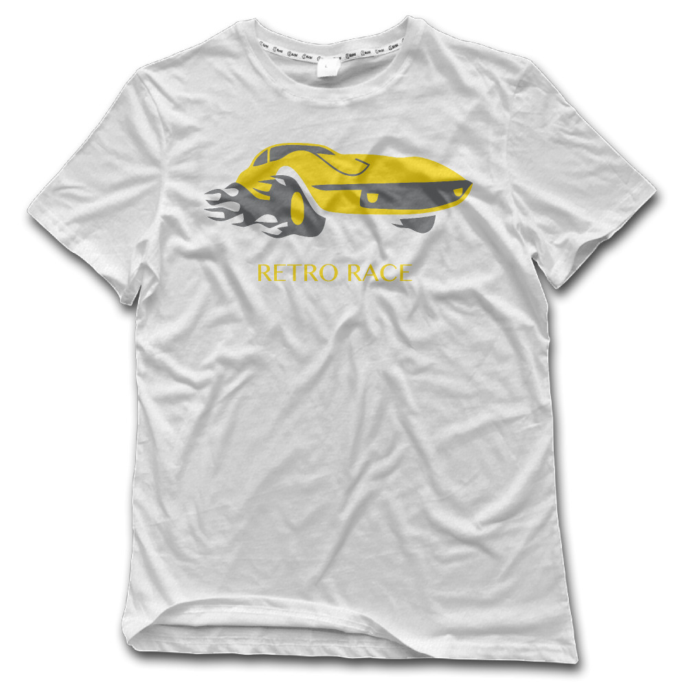 Desain t shirt racing - Retro Desain Balap Mobil Musim Panas T Shirt Anime Mens T Shirts Mode Printing Pria