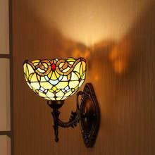 Винтажная витражная ретро лампа Тиффани в стиле барокко из цинкового