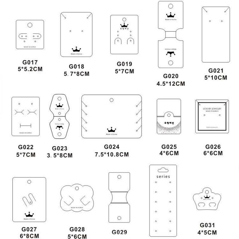 Custom Logo Kraft Paper Jewelry Display Tag Custom Printed  Necklace Earrings Cards Bracelet Ring Jewelry Packaging Cards