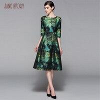 Jane story office dress maxi vintage robe платье лето весна dress 2017 цветочные dress beautiful party dress