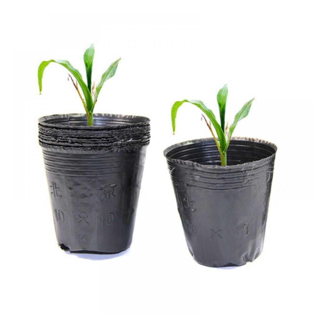 Plastic Nursery Pot Plant Seedling Pouch Holder Raising Bag Nutrition Block Pots Garden Supplies