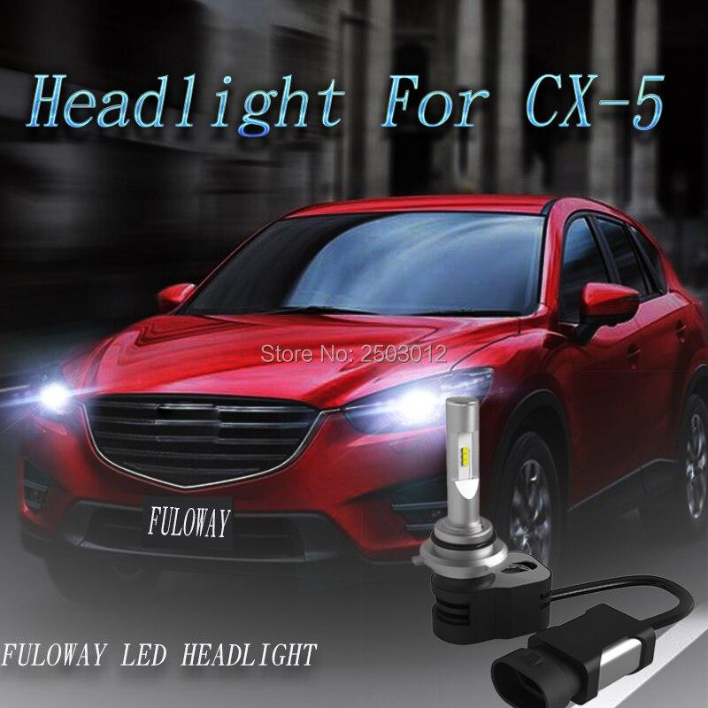 2X Car LED Headlights Blub H4 Hi-Lo Beam H1 H11 H8 H9 H7 9005 HB3 9006 9600LM 60W For Mazda CX-5 CX5 Aexla CX-7 3 6 car styling хай хэт и контроллер для электронной ударной установки roland fd 9 hi hat controller pedal