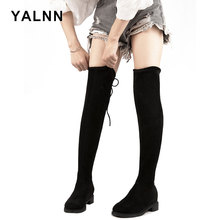 YALNN Sexy 2019 Women Winter Boots Shoes Over The Knee Thigh High Warm Short Plush Lining Slip-On Basic for
