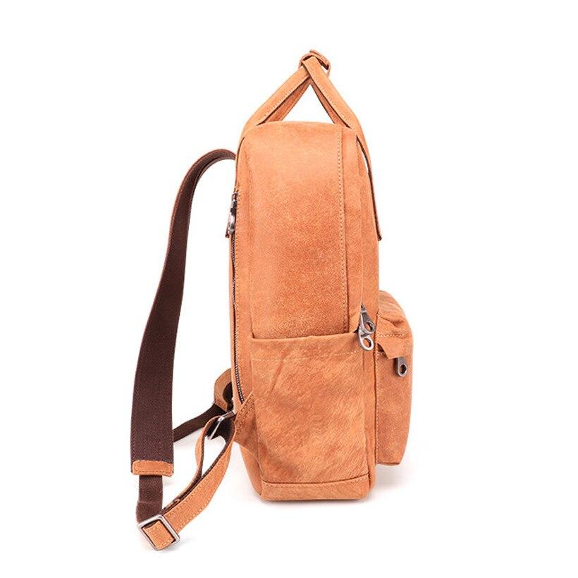 Открытый Досуг сумка 2019 новый мужской кожаный рюкзак большой емкости рюкзак ретро прочный рюкзак для путешествий мужская сумка - 4