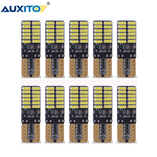 AUXITO 10Pcs W5W T10 LED Canbus Bulb Car Clearance Interior Lights For Audi BMW Mercedes Toyota Error Free Automobiles LED 12V все цены