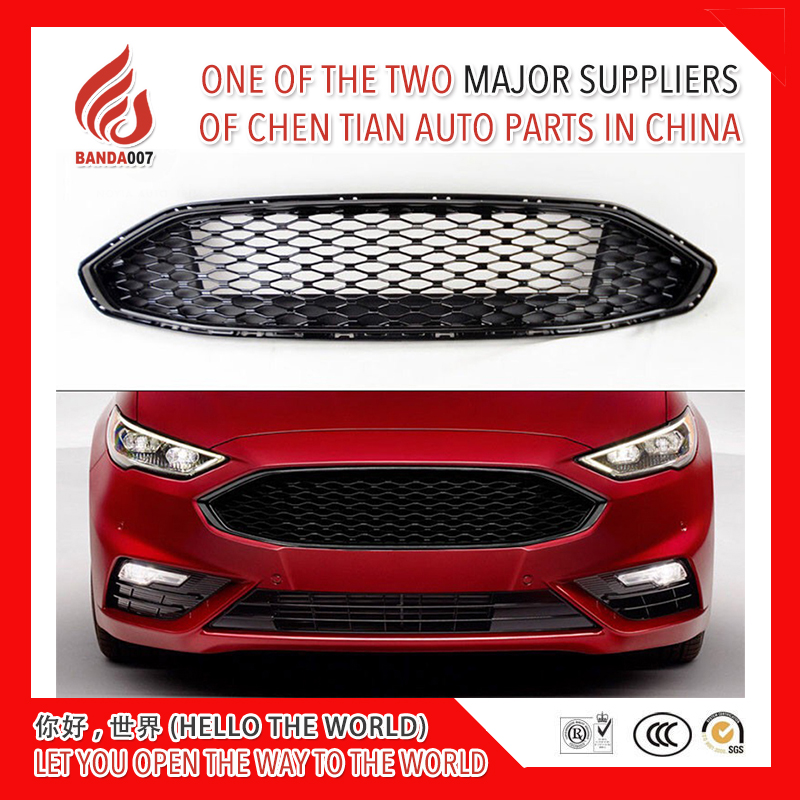 High quality Honeycomb ABS material modification front grill racing grills grille for Mondeo mondeo 2017 2018 17 18