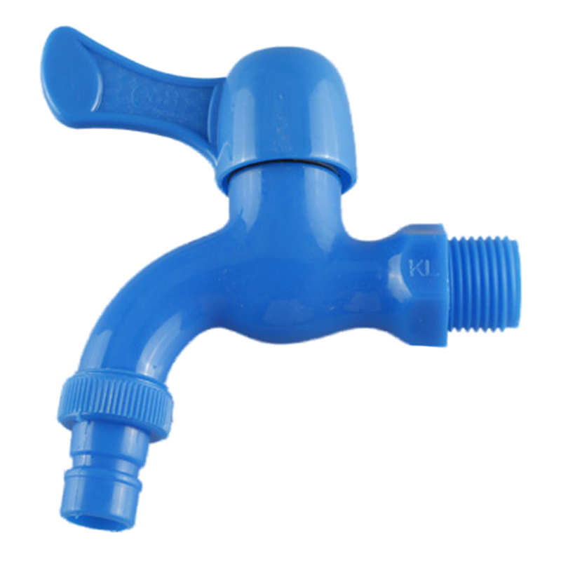 New Home Kitchen Plastic Blue Quarter Turn Faucet Tap
