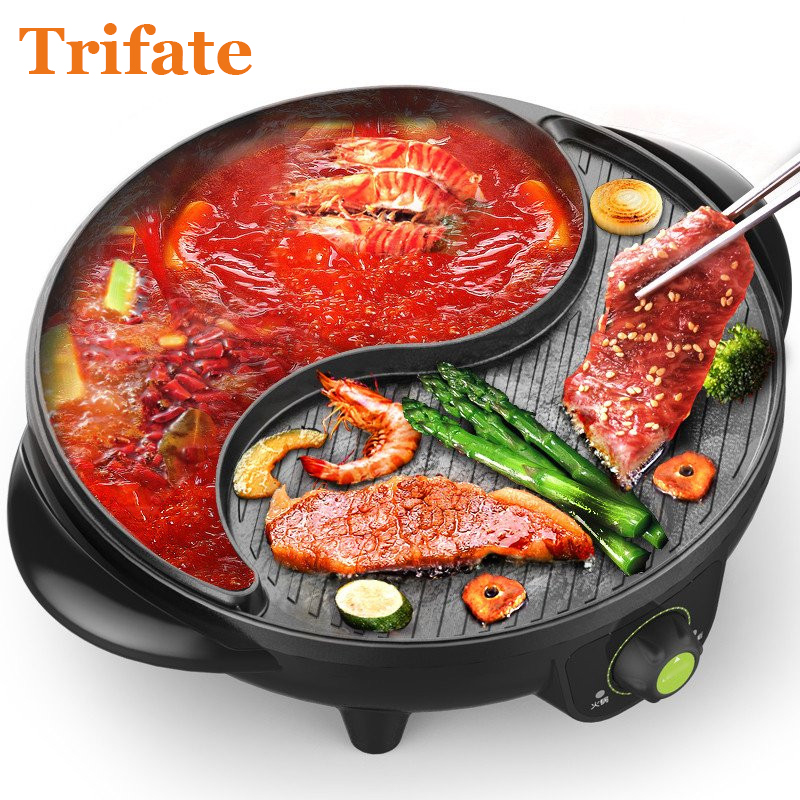 3200a Multifunctional 1600w Electric Pan Grill Bbq Grill