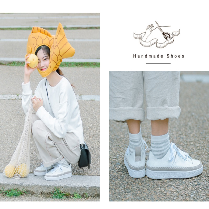 Département Sen Blanc 1 Sauvage Plat Nouveau Vent Chaussures Casual Cuir 2018 Et Printemps 2 En Automne AIq00Y