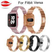 Crystal Stainless Steel Watch For Fitbit Versa, Replacement Metal Bracelet Adjustable watch wrist strap Bands with Rhinestone