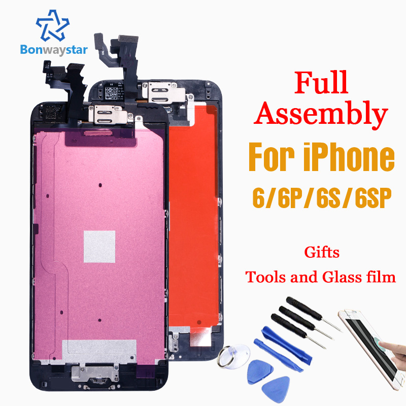 Full Assembly Replacement for <font><b>iPhone</b></font> <font><b>6</b></font> A1549 <font><b>A1586</b></font> LCD <font><b>Screen</b></font> Module Touch Digitizer Display <font><b>6</b></font> 6s Plus+Front Camera+Home Button image