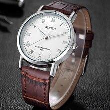 WLISTH Leather Watch Men Top Brand Luxury Quartz Wrist Watches Men Clock Wristwatch Male Quartz-Watch Relogio Masculino hodinky