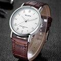 Wlisth couro relógio de pulso de quartzo dos homens top marca de luxo relógios homens relógio de quartzo-relógio de pulso masculino relogio masculino hodinky
