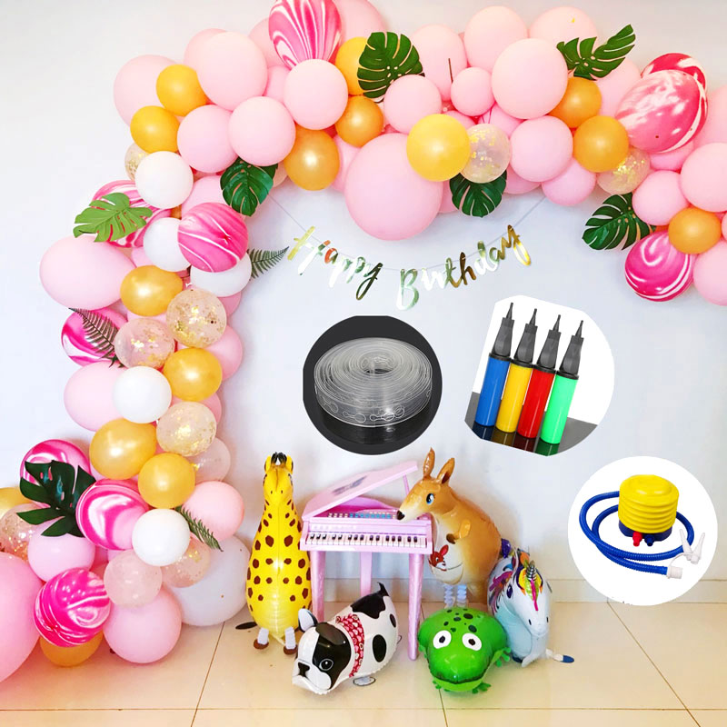 New Latex Balloon Knotter Balloon Arch Pump Stand Holder Stick Balloon Ribbon Glue Birthday Wedding Party Balloon Accessories in Ballons Accessories from Home Garden