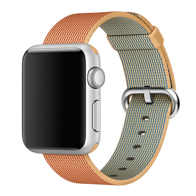 CRESTED Woven Nylon strap For apple watch band 42 mm/38  Sport wrist braclet Fabric-feel metal bucket belt for iwatch 1/2/3