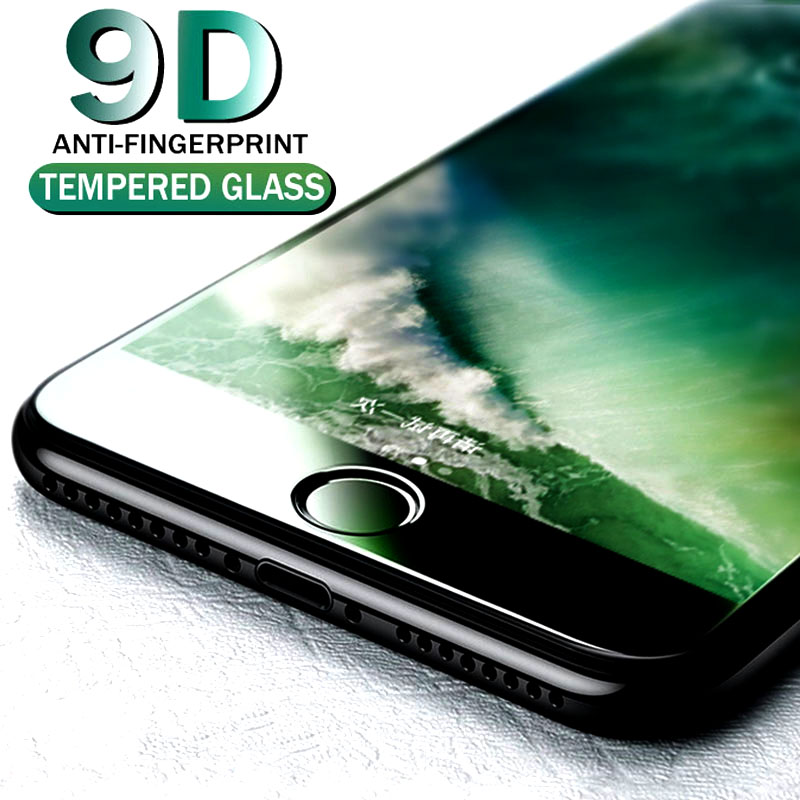 9D Tempered Glass For iPhone 7 8 Plus 6 6S Plus Full Cover Protective Screen Protector For iPhone X XR XS Max Tempered Glass in Phone Screen Protectors from Cellphones Telecommunications