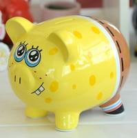 Cartoon Spongebob B Piggy Bank Coin Bank Money Box Saving Money saving tank Pen container Home Decor Favor Gift Learning Kids