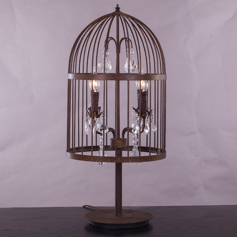 achetez en gros cage lampe de table en ligne des grossistes cage lampe de table chinois. Black Bedroom Furniture Sets. Home Design Ideas