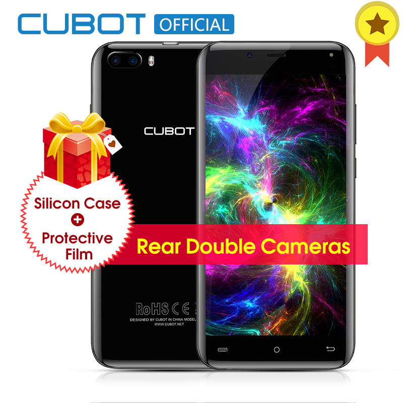 Cubot originale Magia Curvo Display MT6737 Quad Core Posteriore Dual Camera Smartphone Android 7.0 3 GB di RAM 16 GB ROM 5.0