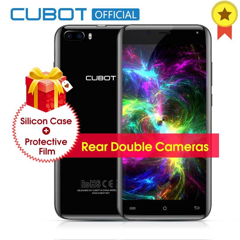 Original Cubot Magie Gebogene Display MT6737 Quad Core Hinten Dual-kameras Smartphone Android 7.0 3 GB RAM 16 GB ROM 5,0