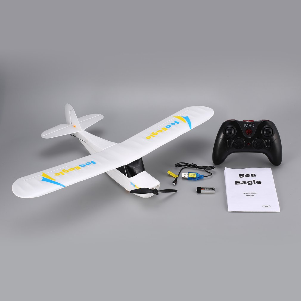 Mirarobot Seaeagle 2.4Ghz 3CH Mini 3/6-Axis Remote Control RC Airplane Fixed Wing Drone Plane with Wingspan 510mm RTF macfree b 17 b17 rc airplane brushed 2 4ghz 6ch built in 6 axis gyro fixed wing 740mm wingspan airplane rtf