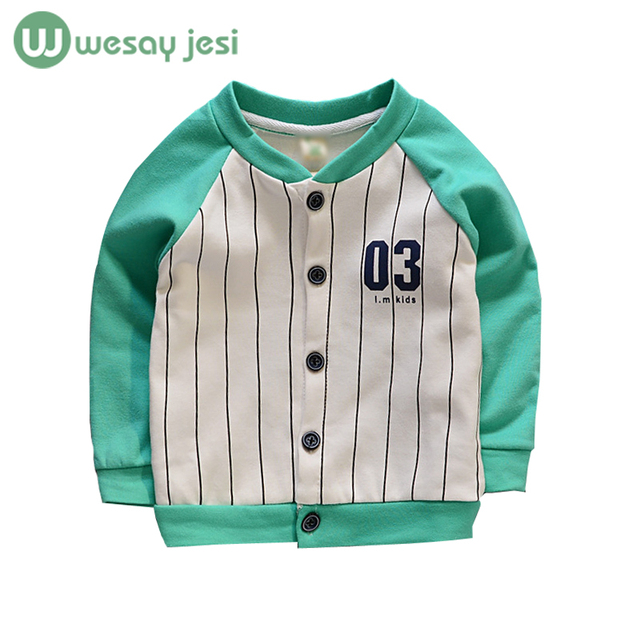 Kids jacket Spring/autumn Striped baby boy jackets Children Casual Outerwear girls boy trench coat baseball Jacket Sport Suit