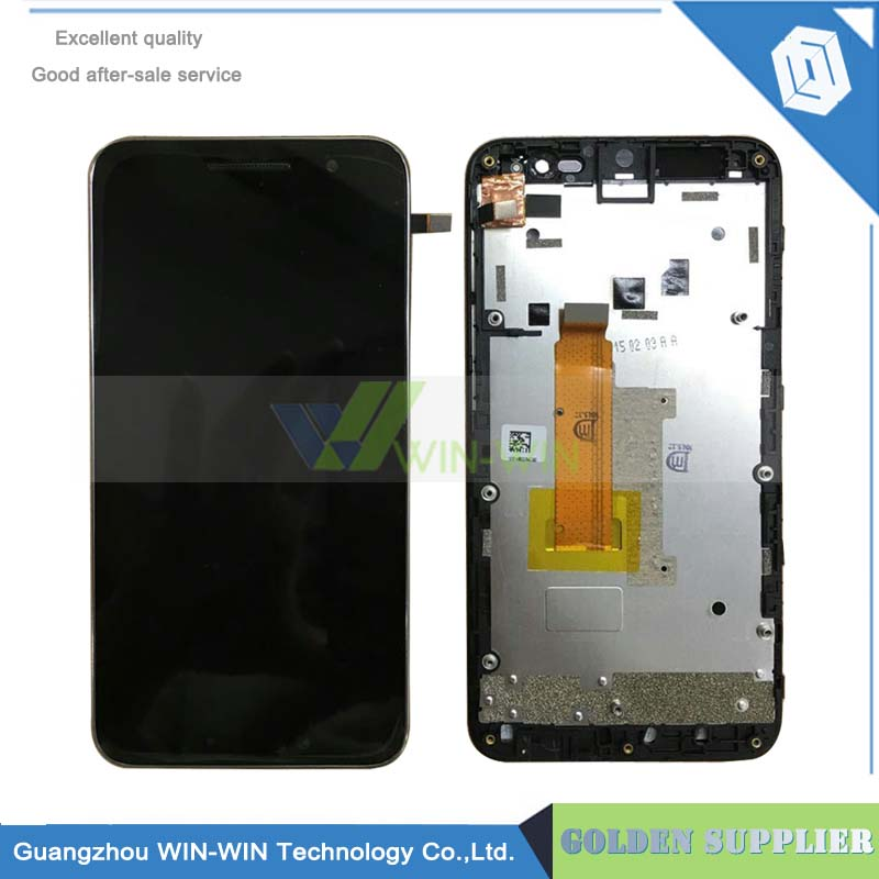 For Vodafone smart prime 6 VF895 LCD display touch screen panel digitizer assembly with frame free shipping+tracking no vibe x2 lcd display touch screen panel with frame digitizer accessories for lenovo vibe x2 smartphone white free shipping track