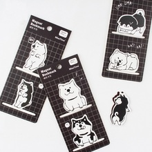 4 pcs Cartoon Shiba inu dog magnetic bookmarks for book Magnet paper clip Stationery Office accessories School supplies A6166