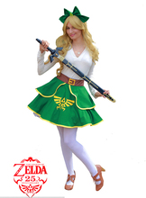 The legend of zelda enlace mujer lolita kimono dress anime cosplay costume