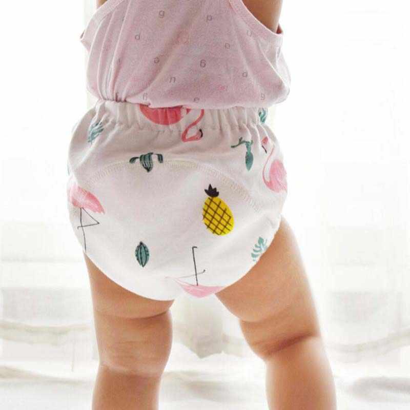 1 قطعة قابلة لإعادة الاستخدام الطفل التدريب قعادة السراويل طفل 6 طبقات مقاوم للماء الحفاض سراويل امتصاص الماء الرضع كوتون الشاش الملابس الداخلية