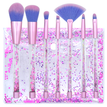 Crystal Glitter Makeup Brushes 7 pcs Sets with Bag