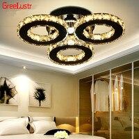 85 265 v moderno led luzes de teto de cristal círculo lustre teto luminarias plafon para quarto lamparas techo luminárias|Luzes de teto| |  -