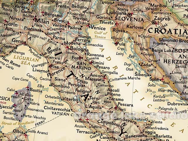 Large Vintage EUROPE Map Bar Cafe Home Decoration Detailed Antique - Vintage europe map poster