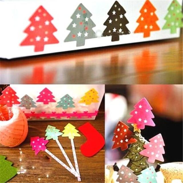 Christmas Tree Stickers Craft Xmas Card Present Tag Wall Windows Decor