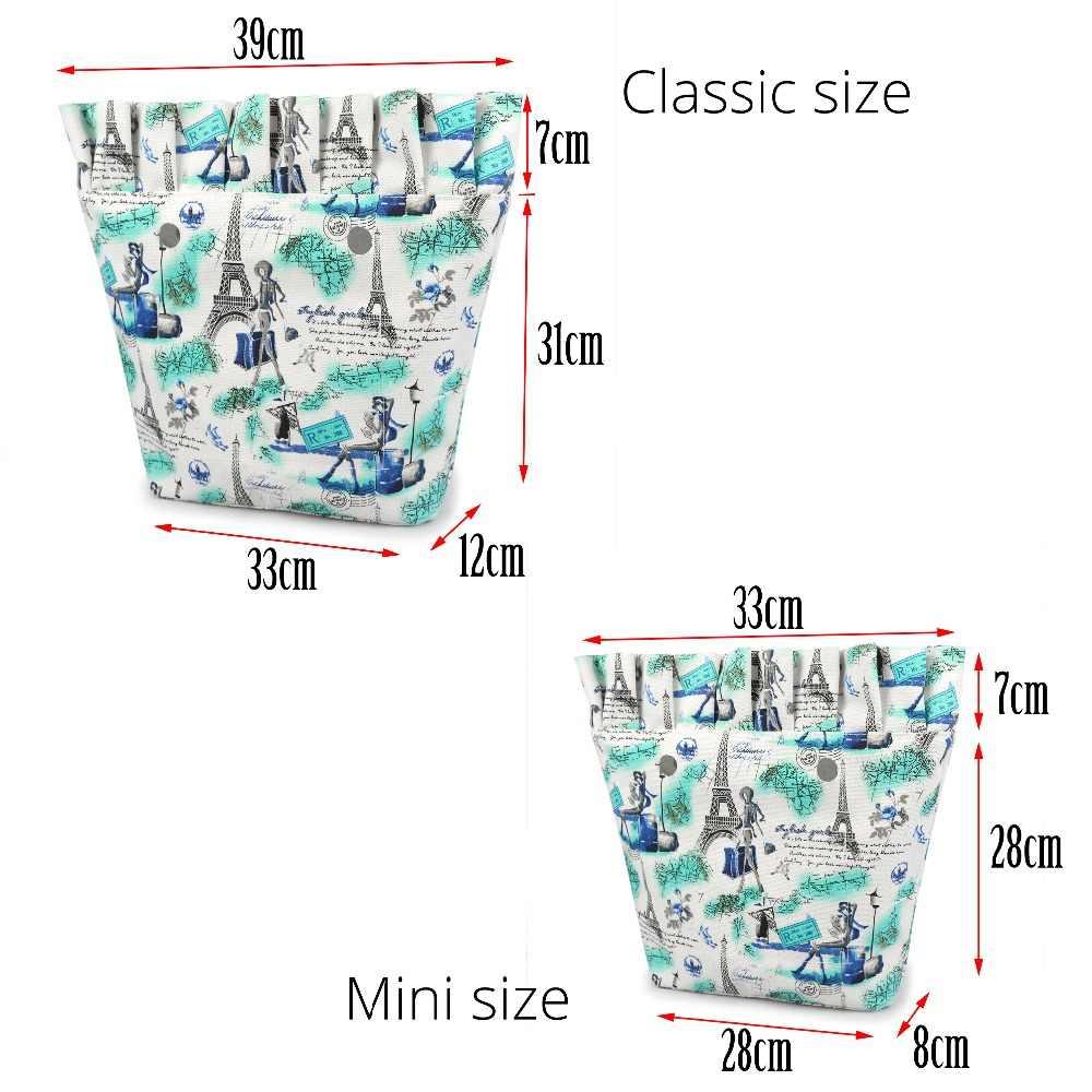 Tanqu Neue Klassische Mini Bunte Zip-up Krause Falten Rüschen Innenfutter Einsatz für Große Mini Obag Leinwand Inneren tasche für O Tasche