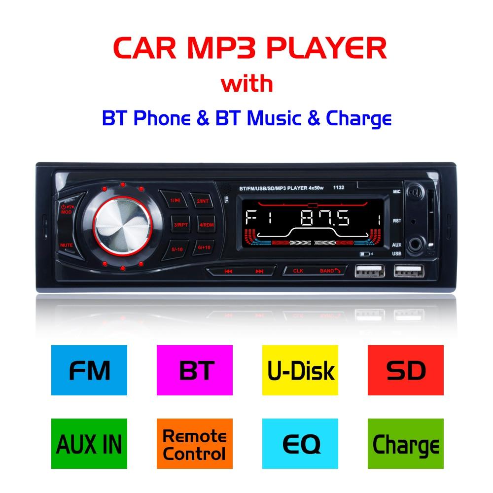 Durch Dhl 10 Stücke Auto Radio 1132 Stereo Player Digital Bluetooth Hände-freies Anruf Auto Mp3 Player Fm Radio Audio Musik Usb/sd In Dash