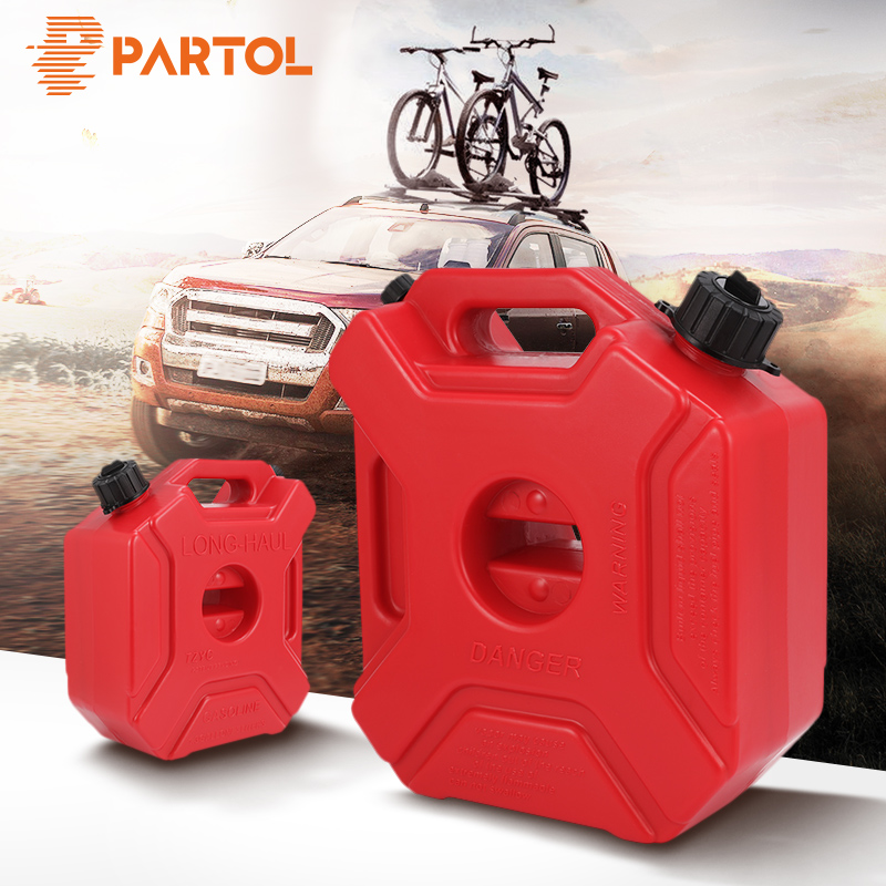 Partol 3L 5L Fuel Tanks Plastic Petrol Cans Car Jerry Can Mount Motorcycle Jerrycan Gas Can Gasoline Oil Container fuel Canister the new european style ceramic creative direct canister storage tanks sealed cans can be customized logo can be added on behalf