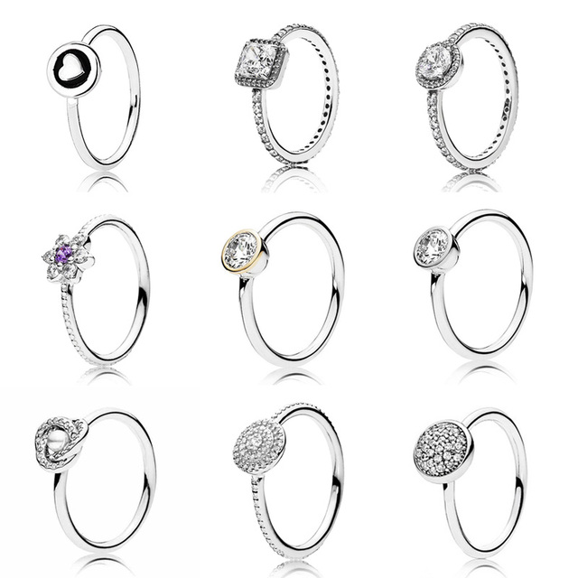 363c659d0f5eb US $2.9 9% OFF|Radiant Elegance Timeless Elegance Ring With Crystal 925  Sterling Silver Signature Ring For Women Wedding Pandora Jewelry-in Wedding  ...