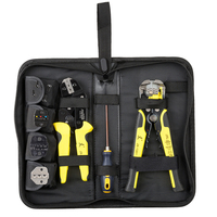Multi tools Wire Crimper hand Tools Kit Engineering Ratchet Terminal Crimping Plier Wire Crimper + Wire Stripper+S2 Screwdiver